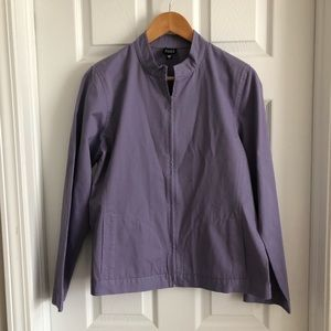 Eileen Fisher Lavender Full Zip Lightweight Jacket